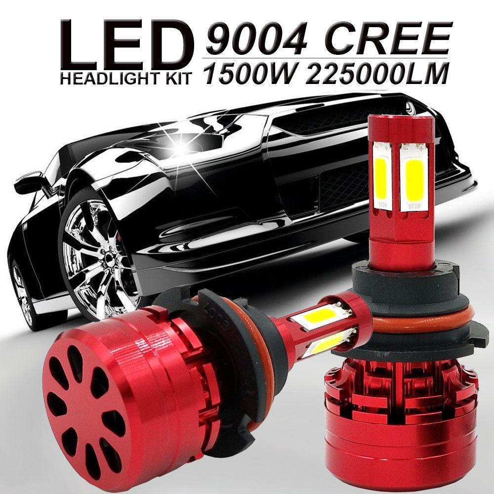 NITHTEYE 9004 HB1 4-Sided LED Del Faro Kit 1500 w 225000LM Hi lo Fascio Lampadine 6000 k Auto LED faro HB1 Super leggero.