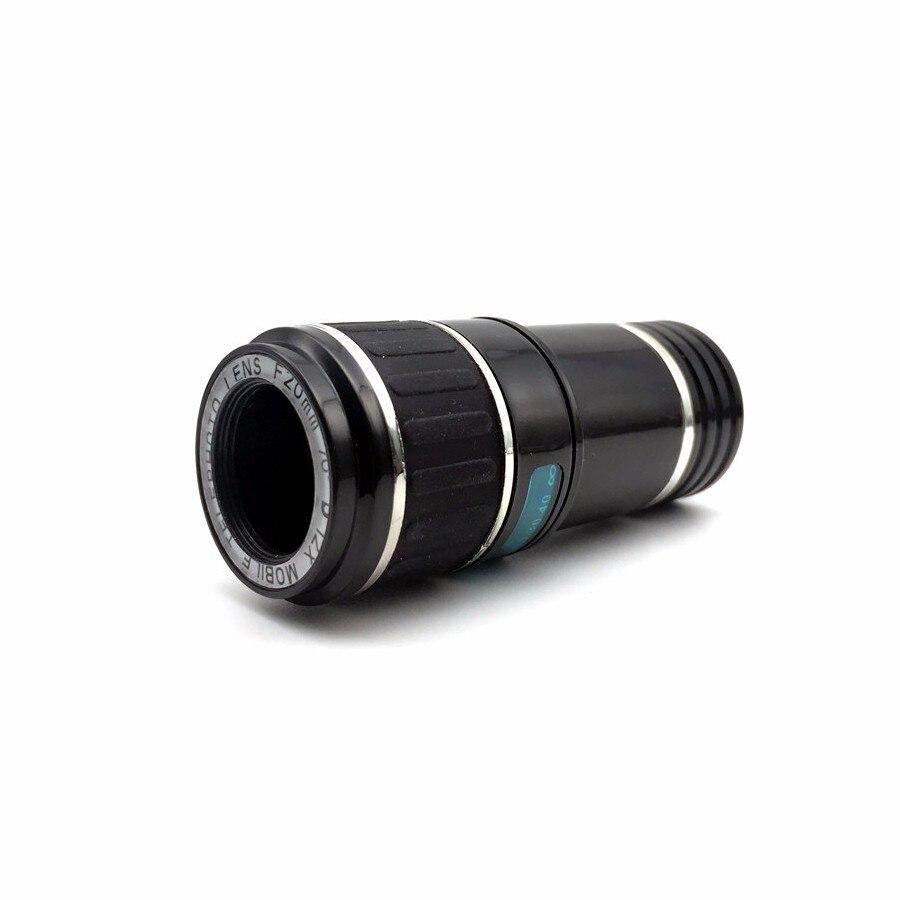 Newest Mobile Phone Camera Lens Kits Fisheye lense Wide Angle Macro Lens 12X Zoom Camera Telephoto Lens For iPhone Samsung LG 10