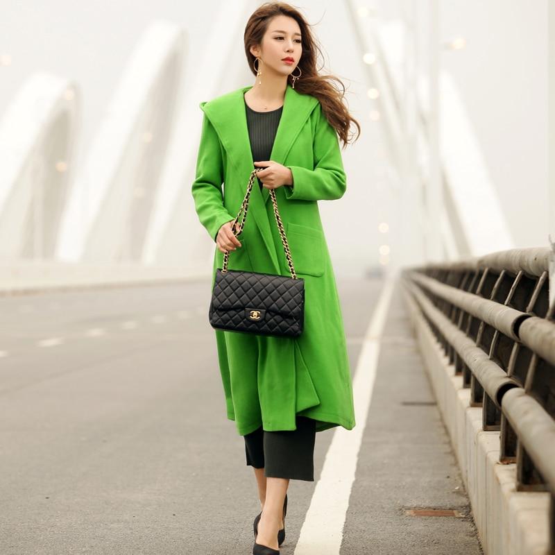 Color Verragee Azul Macaron Nuevo Largo Abrigo Punto 2019 verde Otoño turquesa rojo Cielo Invierno Formal De Retro Mujeres Sólido Abierto Vintage Lana rqwx0YrT