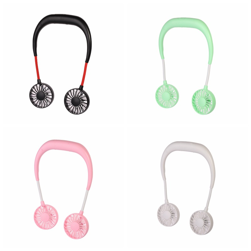 Image 5 - USB Rechargeable Wearable Portable Hand Free Neckband Fan  Personal Mini Neck Double Fans 3 Speed Adjustable Home Office Travel-in Home Office Storage from Home & Garden