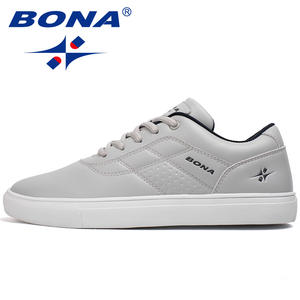 BONA Skateboarding Shoes Sneakers Classics-Style New Outdoor Fast Lace-Up Men Jogging