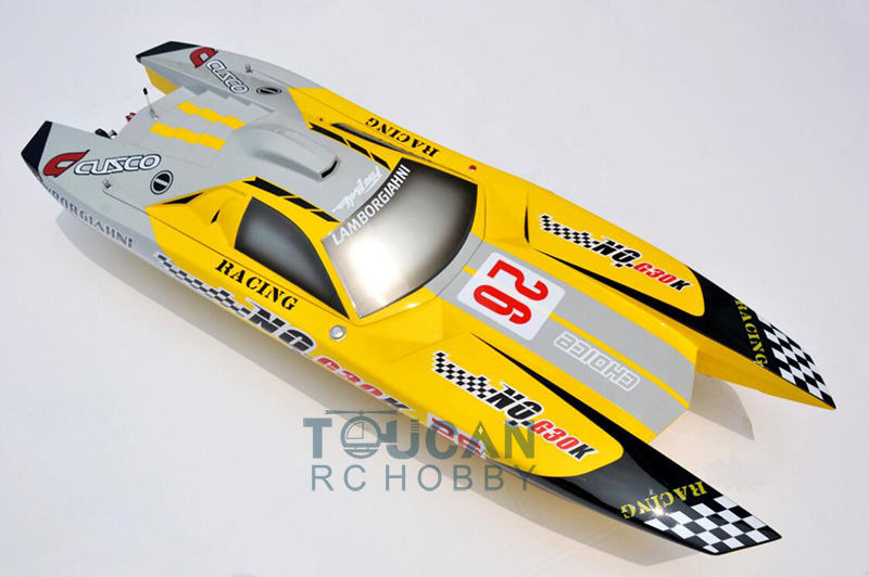 G30K ARTR Fiberglass RC Racing Boat 30CC Engine Water Cooling Sys Exhaust' Sys Yellow cnc aluminum water cooling jacket for 29cc zenoah engine rc boat