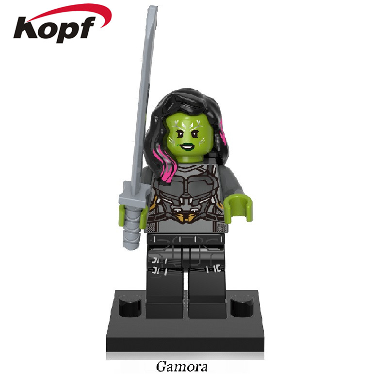 Single Sale Super Heroes Guardians of the Galaxy Gamora Drax the Destroyer Tree Man Building Blocks Bricks Children Toys XH 609
