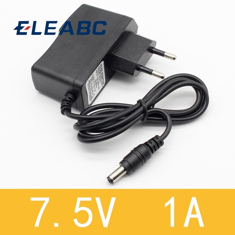 1pcs 7.5V 1A High quality AC 100V-240V Converter Switching power adapter DC 7.5V 1A 1000mA Supply EU Plug DC 5.5mm x 2.1mm high quality tattoo power supply blue ac 100v 260v