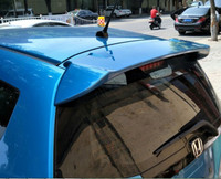 For Honda Jazz Fit Spoiler hatchback High Quality ABS Material Car Rear Wing Primer Color Rear Spoiler2008 2013