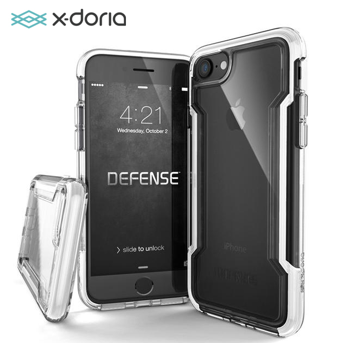 X-doria Defense Clear Series Case For Apple IPhone 7 / 8 Plus With Triple Layer Shock Military Grade Drop Protective Cover