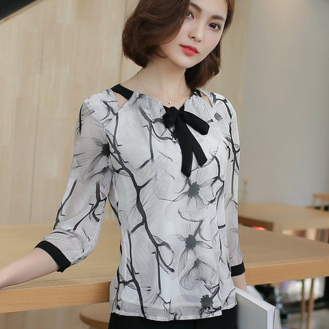 Shirts women 2019  white shirts blouse chiffon blouse plus size tops shirts ladies tops womens clothing women clothing 2705 50 Karachi