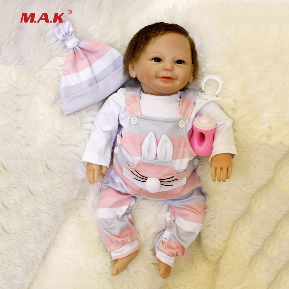 50CM Baby Reborn Dolls Newborn Vinly Reborn Baby Dolls YDK-88R1 With Blue Eyes Smile Realistic For Children Girls Toys Gifts dial ydk 606