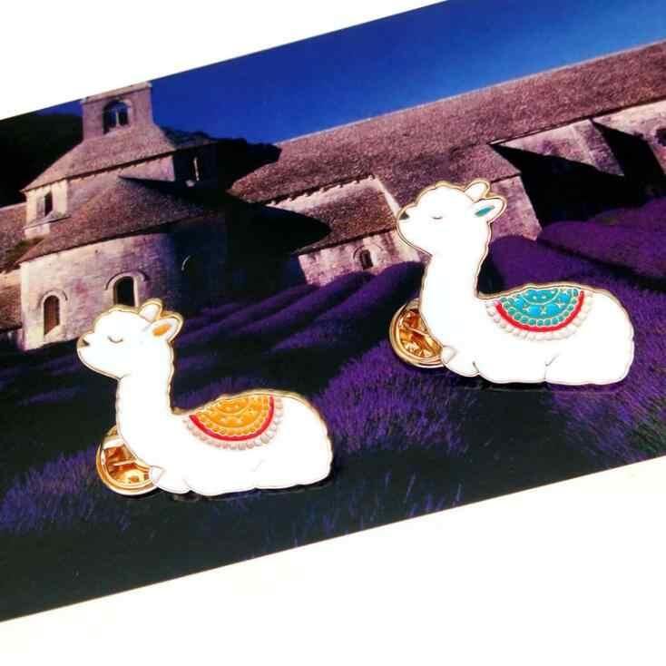 622 愛アルパカ人格シックなブローチ Brincos セーターピンバッジペット記念ジュエリースカーフバックルビジュークリスマスギフト X1126