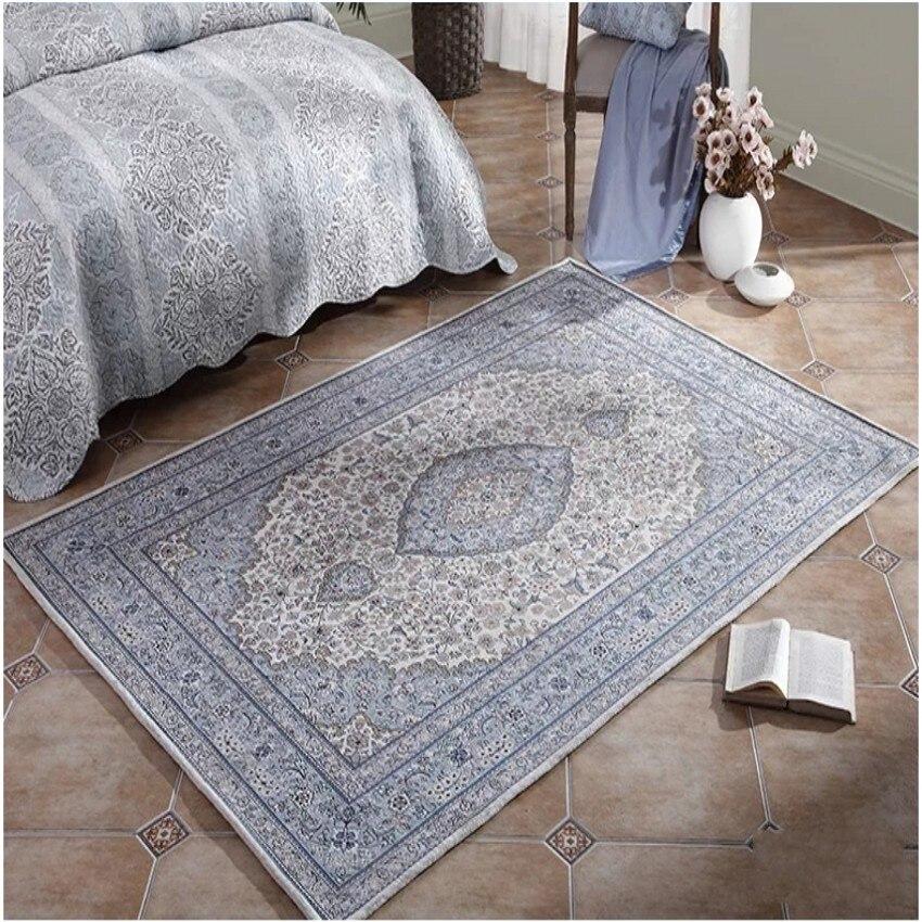 Blended carpet, Big size Persian bedside carpet 200*290cm, rectangle ground mat , classical home decoration living room carpet