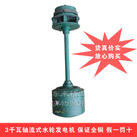 Factory direct home single phase 3000W axial flow hydroelectric generating unit 3kw water flow generator 2 kW