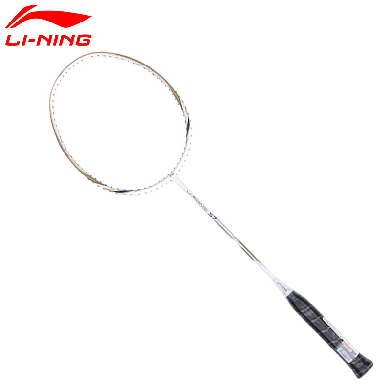 2017 New Li-Ning Badminton Rackets U-Sonic 57 Professional Carbon Fiber LiNing Racquets Send 1 Overgrip AYPM232 L745OLC quality broken wind chinese dragon badminton rackets carbon fiber professional offensive racquets single racket q1013cmk