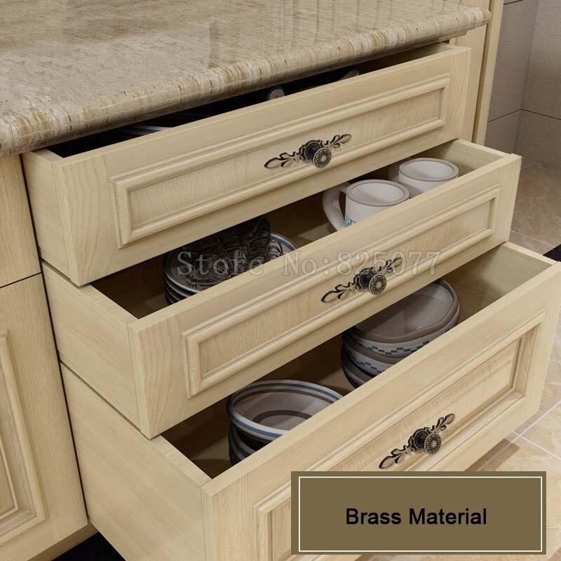 8 шт. латунь винный шкаф ручки ящика Мебель шкаф Кухня двери шкафа тянет ручки и ручки jf1398 - 4