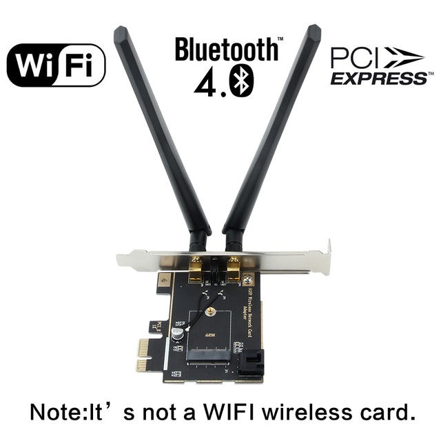 M.2 Card To PCI Express Adapter Desktop Converter For Intel 8260NGW 7260NGW 9260NGW AX200 NGFF M.2 WiFi Bluetooth Card