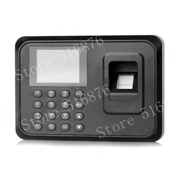 Free Shipping 2.4 Inch TFT USB Biometric Fingerprint Time Clock Recorder Digital Electronic Employee Attendance Machine