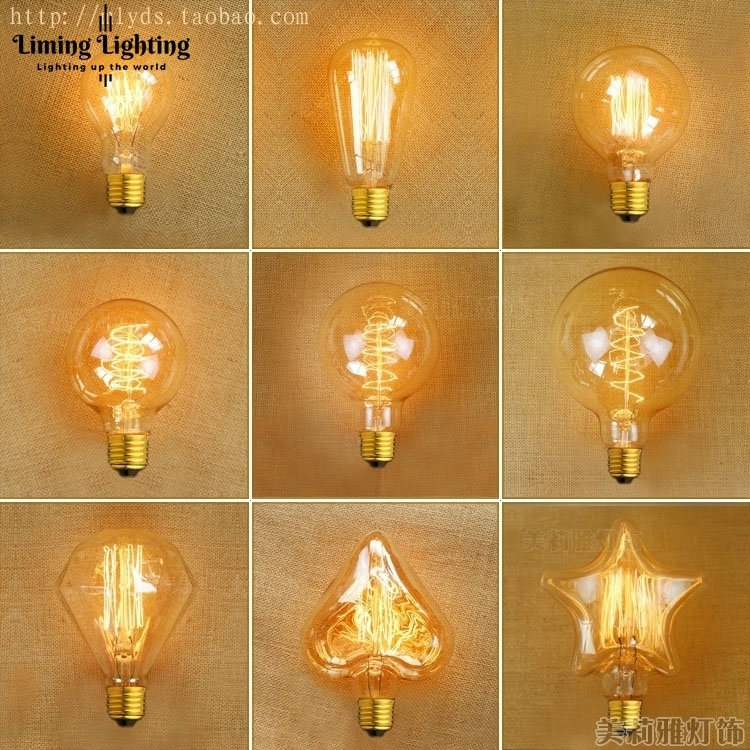 Bombilla Lampada Edison Bulb Light Vintage Retro Lamp Bulb Ampoules Decoratives 40W E27 220V G80/G95/ST64/A19