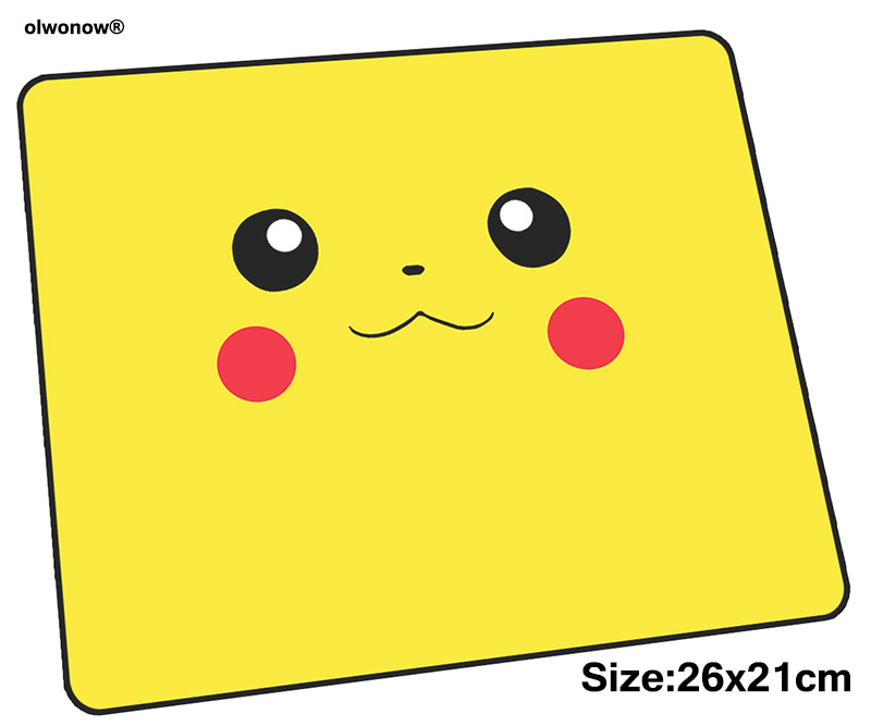 Pokemons Mousepad 26x21cm Gaming Mouse Pad Big Gamer Mat Indie Pop Game Computer Desk Padmouse Keyboard Professional Play Mats