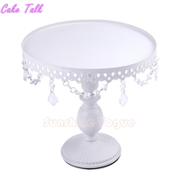 White Cake Stand With Crystal Pendant Cupcake Stand 1 Piece Wedding Party Decoration Supplier Cake Display