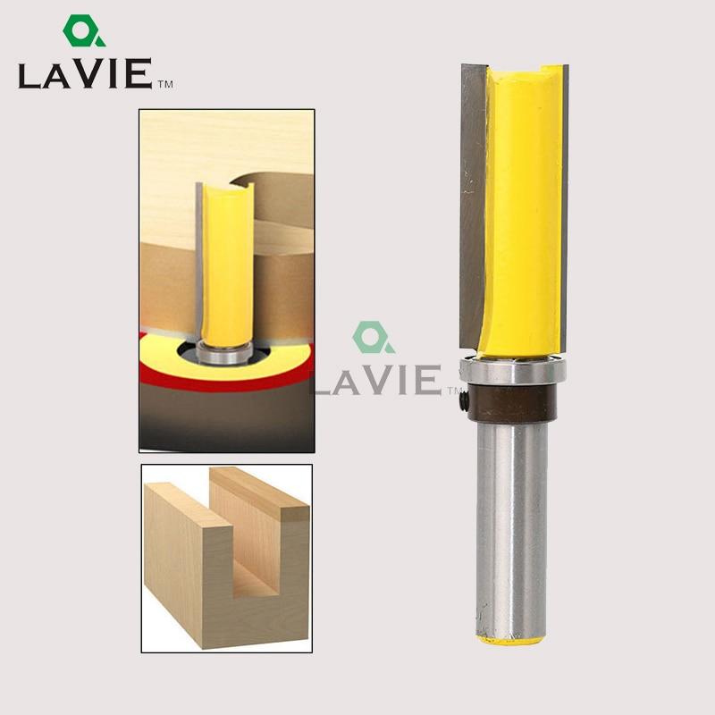 LA VIE 1PC 1/2 Flush Trim Face Mill 2 Tungsten Cobalt Alloy Trimming Knife Template Cutter Router Bit Woodworking Tools MC03007
