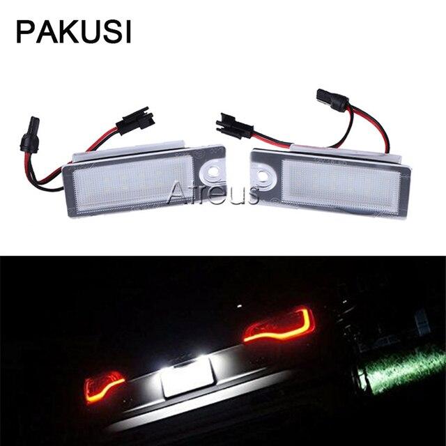 PAKUSI Car LED License Plate Lights 12V White SMD3528 LED Lamp car ...