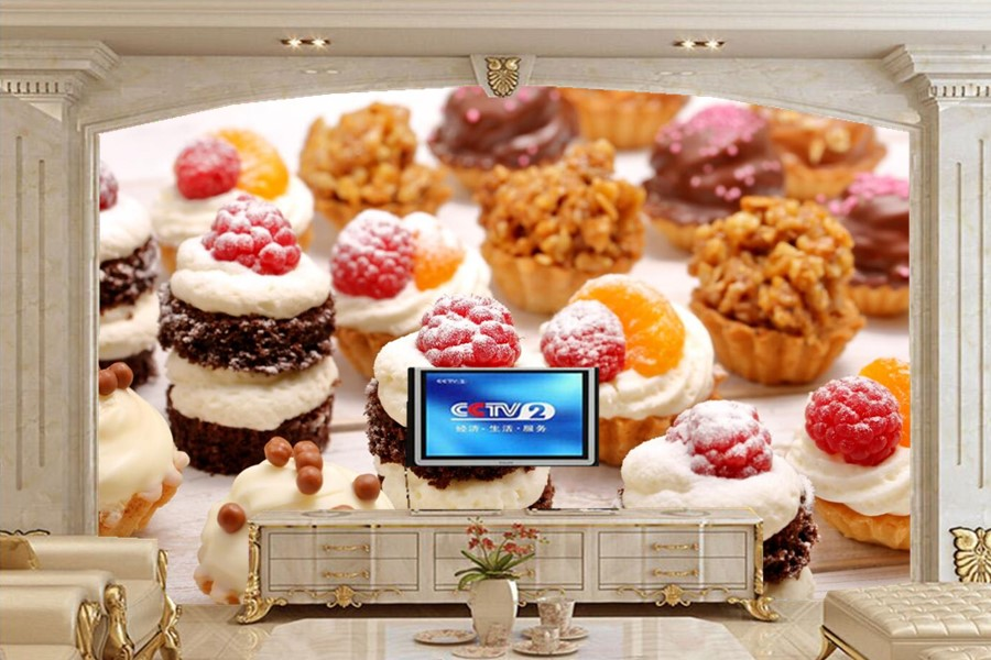 Restaurant Kitchen Wallpaper aliexpress : buy custom photo wallpaper,sweets cake raspberry
