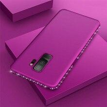 Woman Fashion Glitter Diamond Phone Case for Samsung Galaxy S8 S9 Plus Slim TPU Soft Silicone Cover For Coque Capa NEW