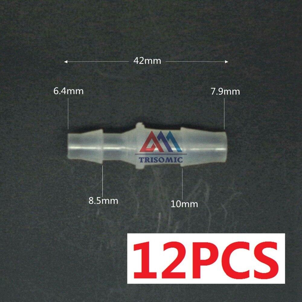 Heimwerker 6,4mm Gerade Reduzierung Verbindungskunststoffrohr Fitting Barbed Reduzierung Stecker Sanitär Aufrichtig 12 Stücke 7,9mm
