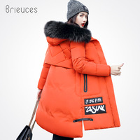 Brieuces Autumn Winter Jacket Women Cotton Jacket Plus Size 3XL Winter Coat Women Thicken Warm Parka