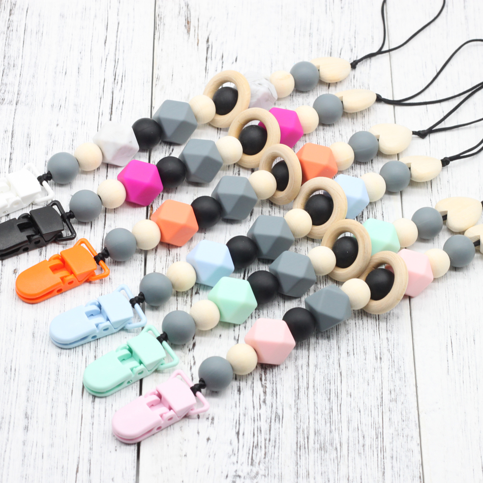 4pcs Baby Toddler Pacifier Strap Dummy Soother Nipple Holder Clip Chain Loop G