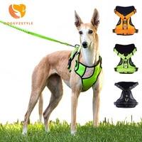 DOGGYZSTYLE Reflective Nylon Large Dog Harness 3Colors Strong Pet Training Vest Big Dog Leash Collars Set