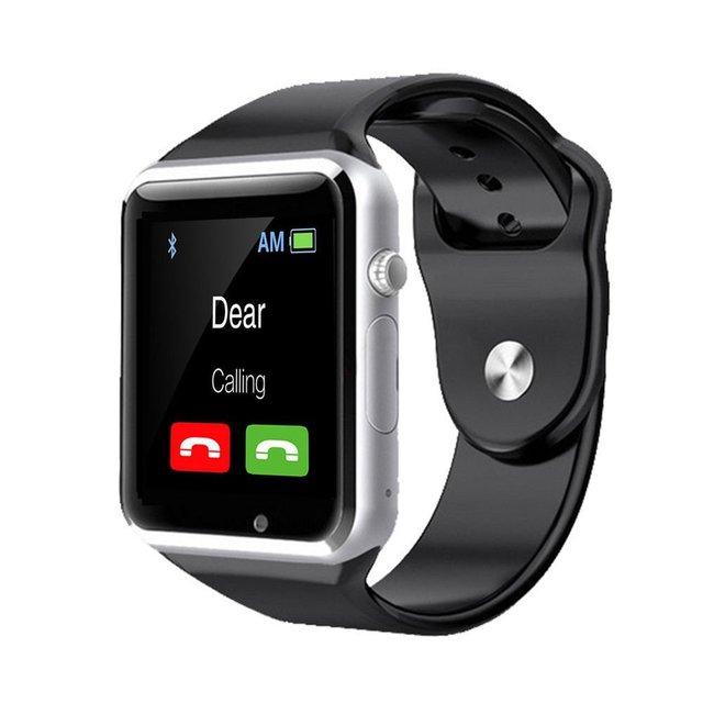 Bluetooth Smart Watch Спорт SmartWatch 1.54 ''Анти-Потеряны для Android IOS Телефон Наручные часы 2.0Mp Камера Поддержка TF Карта