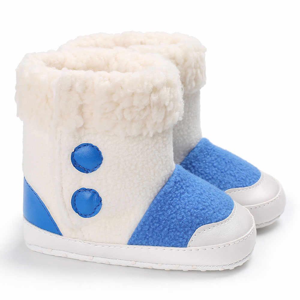 Детские ботинки для снега, для новорожденного младенца любого пола для девочек, обувь для мальчиков, на мягкой подошве; младенческие сапоги для снега новорожденных, малышей и детей младшего возраста состоящий из теплая обувь детские сапоги ЗК