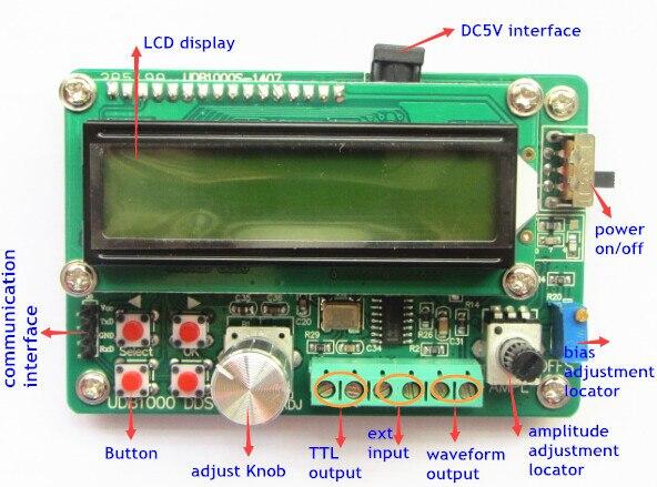 UDB1008S 8 МГц Источников Сигнала DDS Модуль Генератор Сигналов