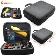 Противоударный защитный gopro сумка коробка для gopro hero 5/4 xiaoyi sj4000 sj5000 m10 4 сессии спорт действий камеры аксессуар