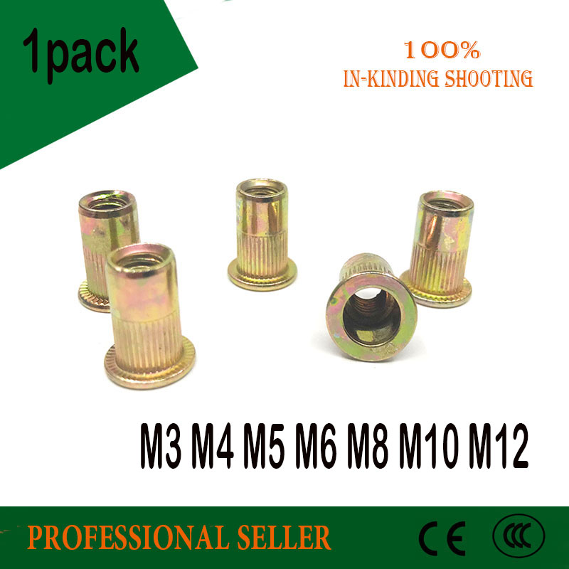 M3 M4 M5 M6 M8 M10 Hollow Rivet Set Zinc Plated Carbon Steel Rivets Threaded Rivet For Metal Plates Tubes Fasteners Tools 50 pieces metric m4 zinc plated steel countersunk washers 4 x 2 x13 8mm