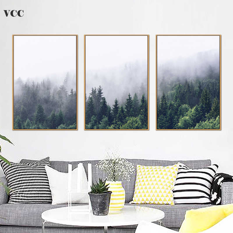 Decorative Pictures,Forest Landscape Picture,Wall Art Canvas Painting,Poster And Print,Wall Pictures For Living Room,Wall Decor