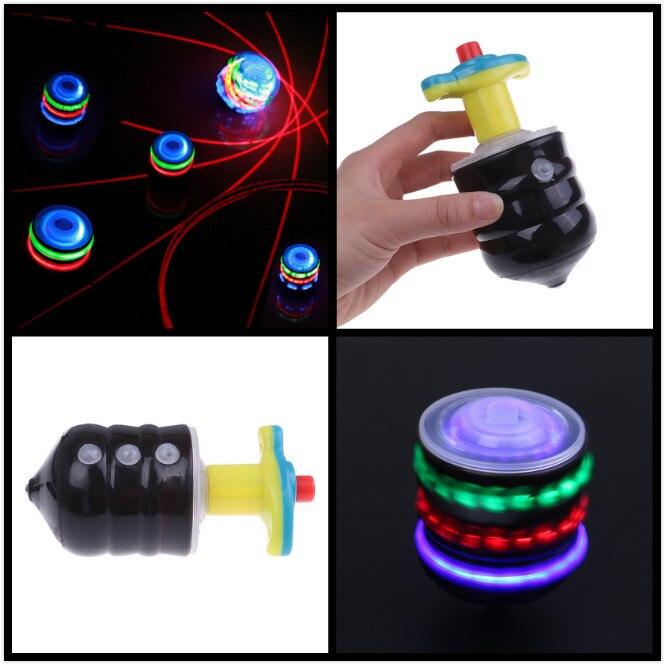 1 PC Colorful Flash LED Light Spinning Top Interesting Luminous Music Gyro Children's Toy Laser Music Gyroscope Kid's gift