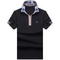 Бесплатная доставка 2017 Для мужчин бренд Мужские Поло рубашка для Для мужчин дизайнер Мужские поло S Для мужчин хлопок короткий рукав рубашк...