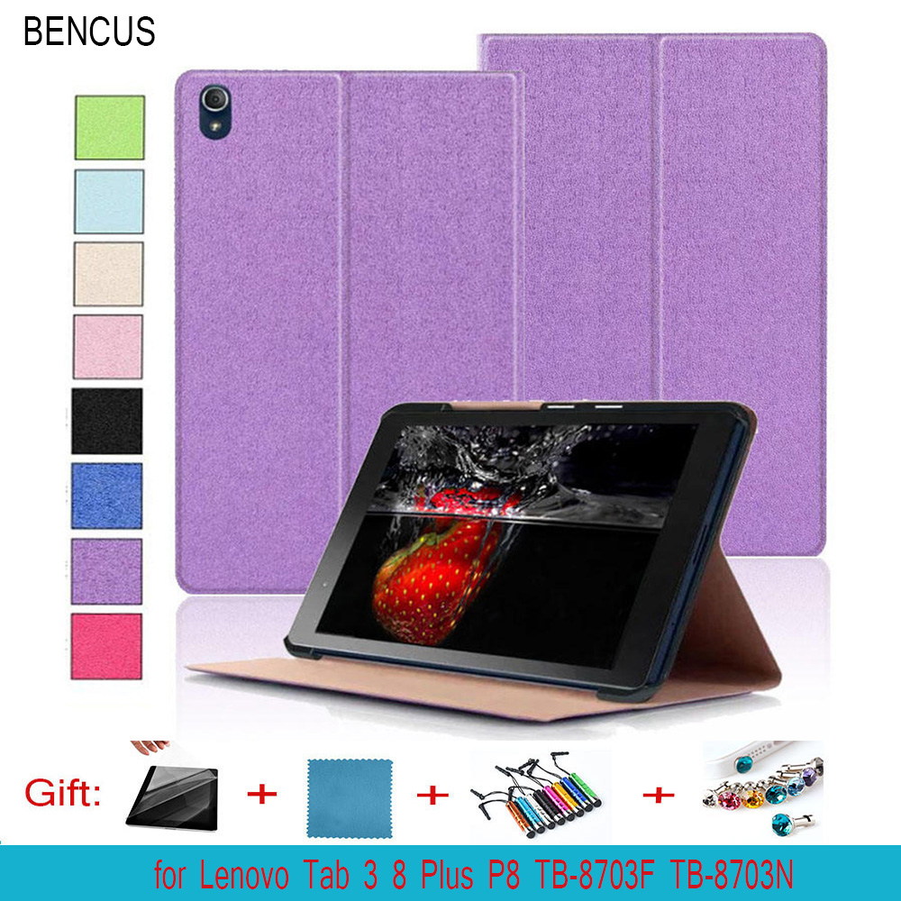 BENCUS Folio Forward Stand Leather Case Skin Shell Cover For Lenovo Tab 3 8 Plus P8 TB-8703N TB-8703F 8 inch Tablet PC