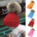 New Fashion Design Winter Baby Beanie Popular Knitted Winter Warm Real Fur Hat