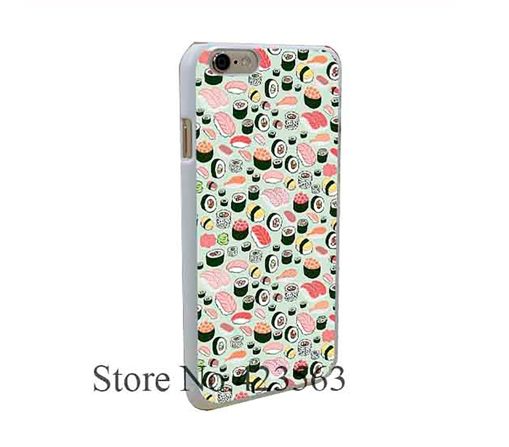 Sushi Forever Style Hard Phone Cases White for iPhone 6 6s plus 5 5s 5c 4 4s