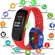 New LIGE Smart Bracelet Waterproof Sports Watch Fitness Pedometer Heart Rate Blood Pressure Monitoring Smart Wristband Relogio