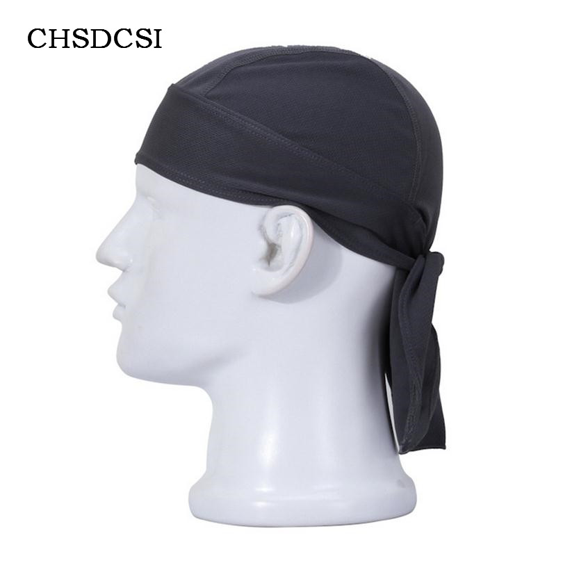 CHSDCSI Quick Dry Biker Caps Newly Men Summer Sunscreen Pure Color Headscarf Scarves Breath Scarf Racing Male Hat Beanies M035