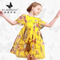 monsoon Girls Dresses Summer  Baby Girls Clothes Kids Dresses Lemon Print Princess Dress Girl Party Cotton Children Dress 23