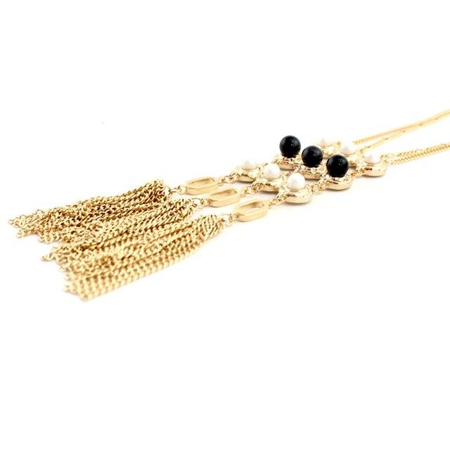 Фото chicvie ожерелья с длинным воротником и подвески золотого цвета цена