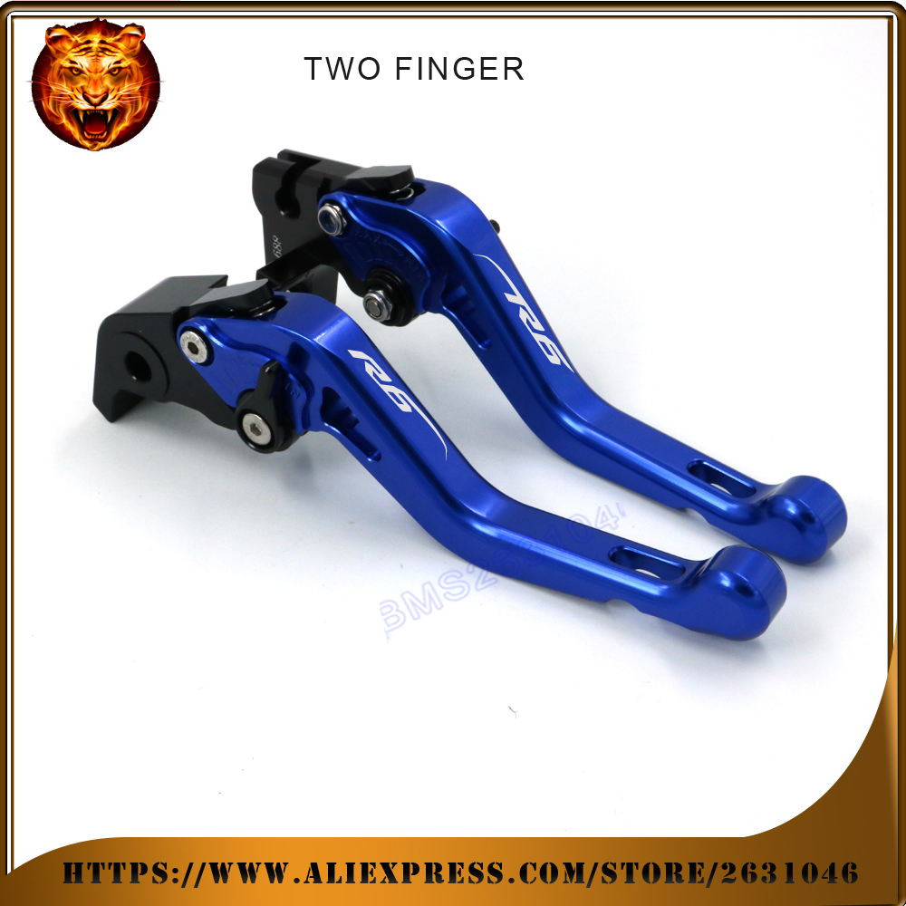 Motorcycle Adjustable Short Brake Clutch Levers For YAMAHA YZF YZFR6 yzf-r6 05 06 07 08 0910 11 12 13 15 NEW STYLE BLUE LOGO motorcycle adjustable cnc billet short folding brake clutch levers for yamaha xt660 xt 660 r x 04 05 06 07 08 09 10 11 12 13 14