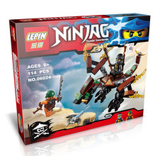 LEPIN 06024 Cole's Dragon Ninja Spinjitzu Masters Minifigure Building Block Bricks Toys Best Toys Compatible with Legoe