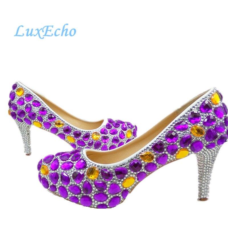 Shoe Oro Zapatos Heel 6cm 11cm 14cm Gratis 8cm Bag De Boda Mujer Envío Alta 11cm Bag 8cm 6cm Rhinestone Plataforma And Púrpura Mujeres Heel Punta Heel Redonda Bag Bag 14cm Heel Diamantes Fiesta 5wqUSIwxg