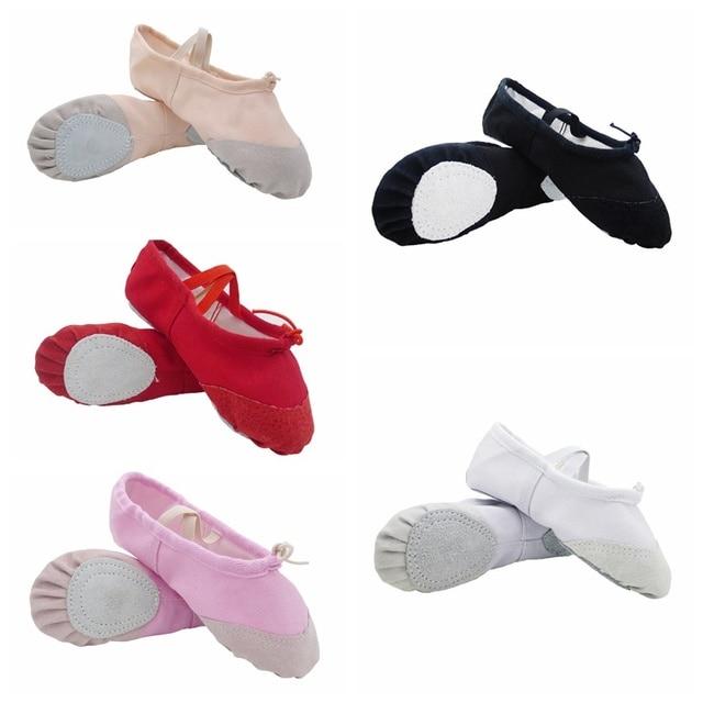 PCS 2 Adulto Feminino Masculino Crianças Lona Macio Fundo Macio Elástico Yoga Sapatos de Dança Ballet Yoga Sapatos de Dança