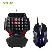 Delux т9 gaming проводная клавиатура и мышь комбо комплект подсветки профессиональный одноместный ручной клавиатура + тихая 3200 точек/дюйм дышать led мыши